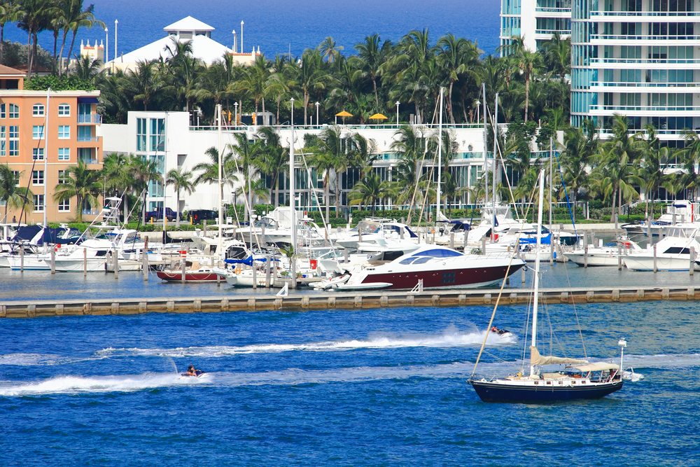 Boats and yachts in Key West Harbor